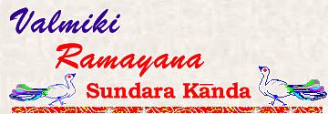 Valmiki Ramayana - Sundara Kanda